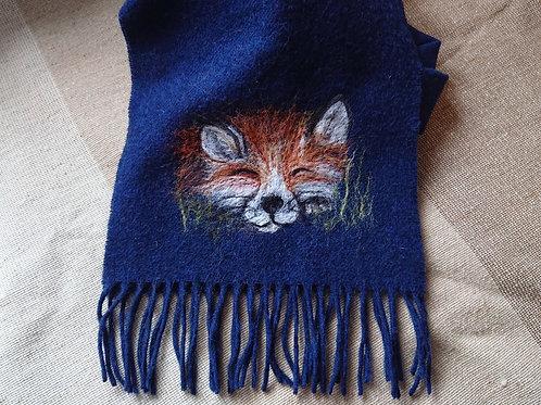 Sleepy Fox Merino Wool Scarf