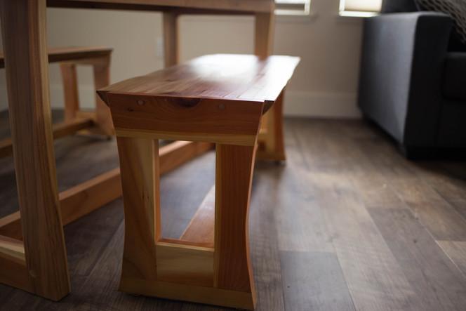 Redwood & Cherry Bench seating