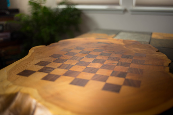 Walnut & Cedar Chessboard