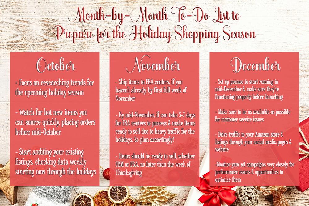 amazon holiday season to do list
