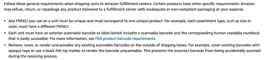 amazon packaging and prep requirements