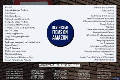 restricted items on amazon