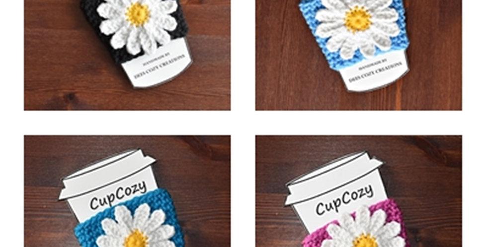 Daisy Cup Cozy, Cup Sleeve, Coffee Cozy, Flower Cup Cozy, Beverage Cozy, Drink C