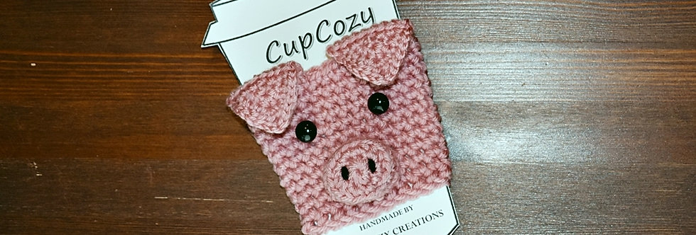 Pig Cup Cozy