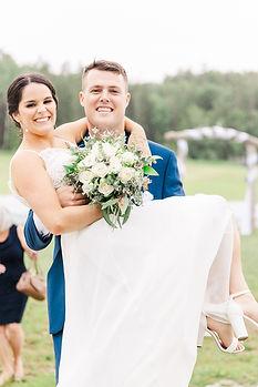 Jenna + Thomas - Saint John Wedding - Bates Barn - Tori Claire Photography - Bride and Gro