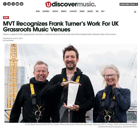 Music Venue Trust // udiscovermusic.com, 2021