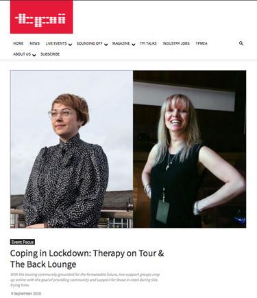 Therapy On Tour // TPi Magazine, 2020