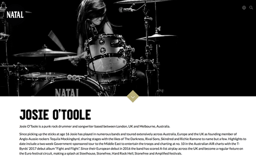 Josie O'Toole // Natal Drums, 2018