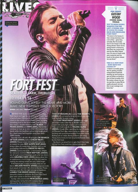 Fort Fest // Kerrang! Magazine, 2016