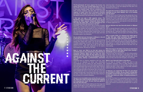 Against The Current // Stitched Sound Magazine, 2016