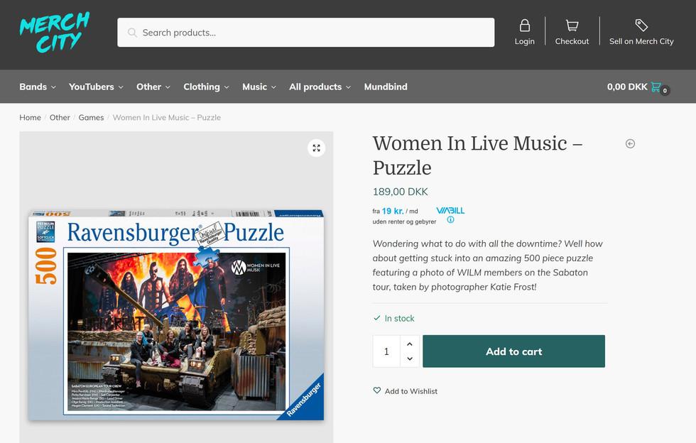 Women In Live Music // Jigsaw, 2020
