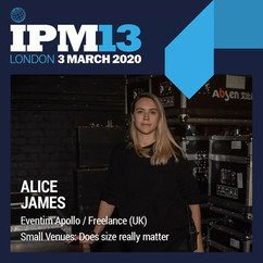Alice James // International Live Music Conference Production Meeting (IPM) 13, 2020
