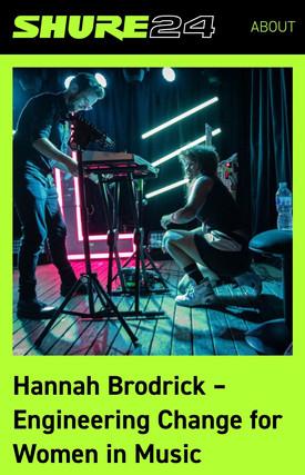 Hannah Brodrick // Shure24, 2020