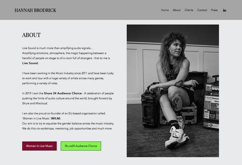Hannah Brodrick // Website, 2020