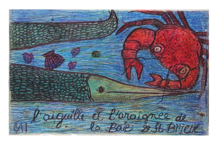 Catherine Bessin L'anguille et l'araignée de la baie, 2019