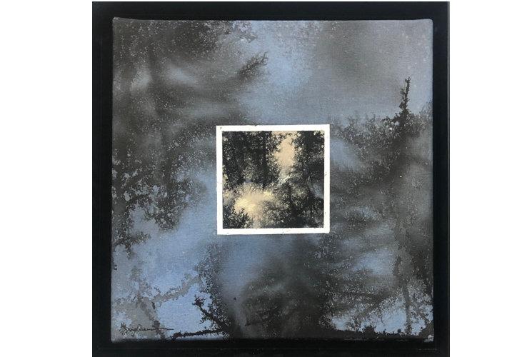 Ye Xing-Qian Bleu fenêtre blanche, 2020