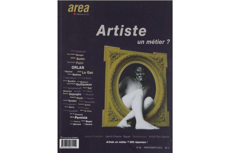 Area revue n°26 - Artiste, un métier