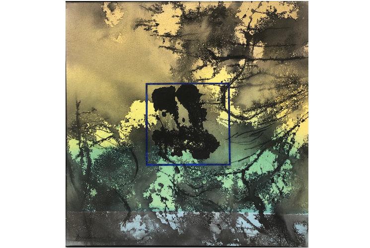 Ye Xing-Qian Carré Bleu sur Jaune Vert Bleu, 2020