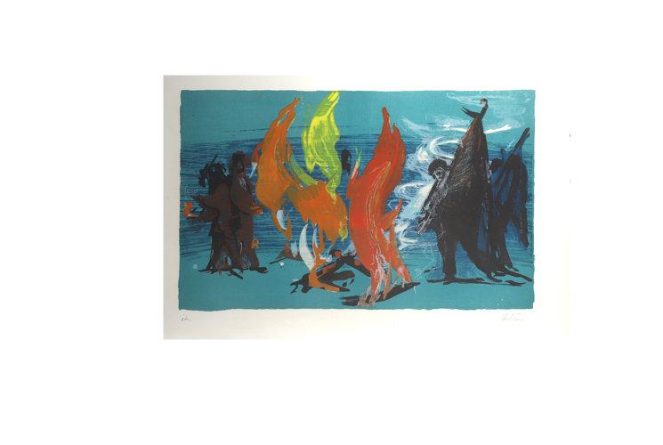 Jean Hélion épreuve d'artiste 1972