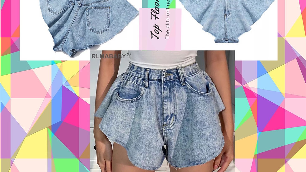 TF Denim Double Wide Shorts