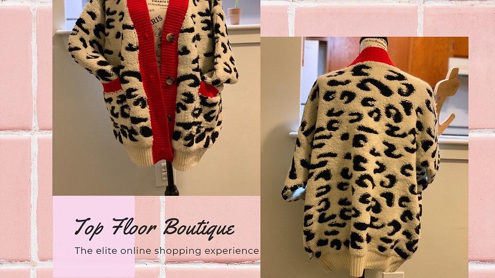 TF Leopard Print Cardigan