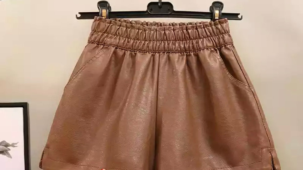 Soft Leather Shorts