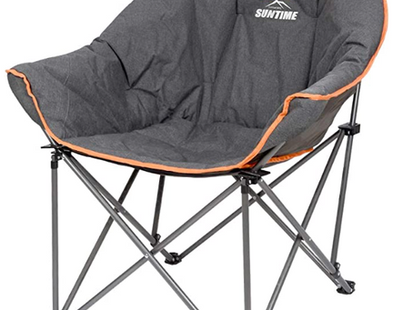 Suntime Sofa Chair, Oversize Padded Moon Leisure Portable Stable Comfortable Folding Chair