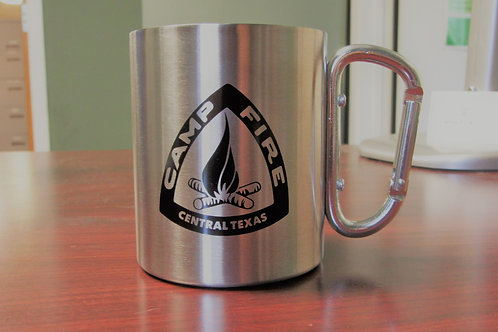 Camp Fire Mug with Carabiner Handle