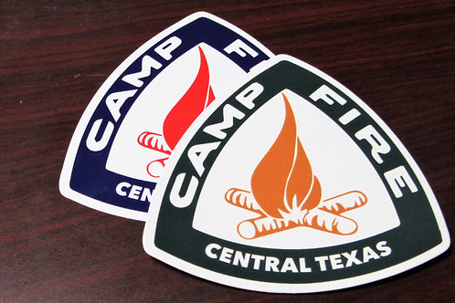 Camp Fire Vinyl Stickers