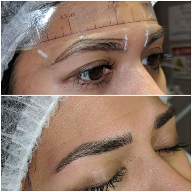 Brow mapping & 1st session microblading