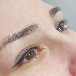 SPMU eyeliner,  client had previous spmu