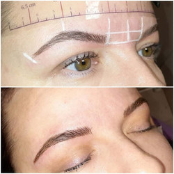 Microblading over grey old pigment 😍 Fi