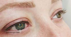 Semi-permanent Eyeliner top and halfway