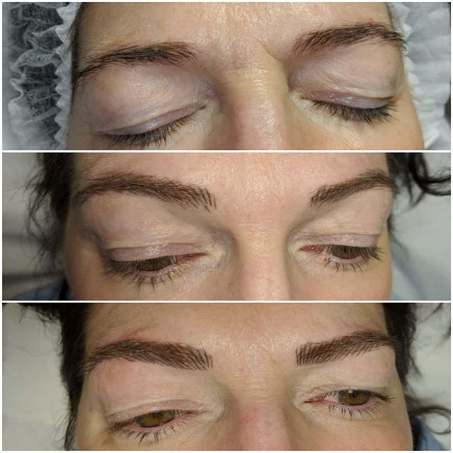 Microblading journey 😍 💜Before 💜Heale