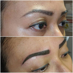 Powder brows 💜 Healed results from the