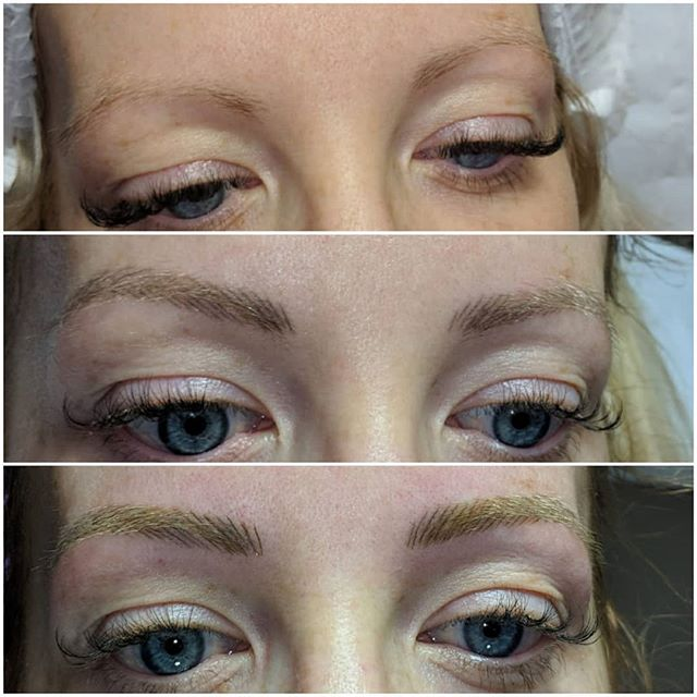 Microblading brow healing 😍 💜Before 💜
