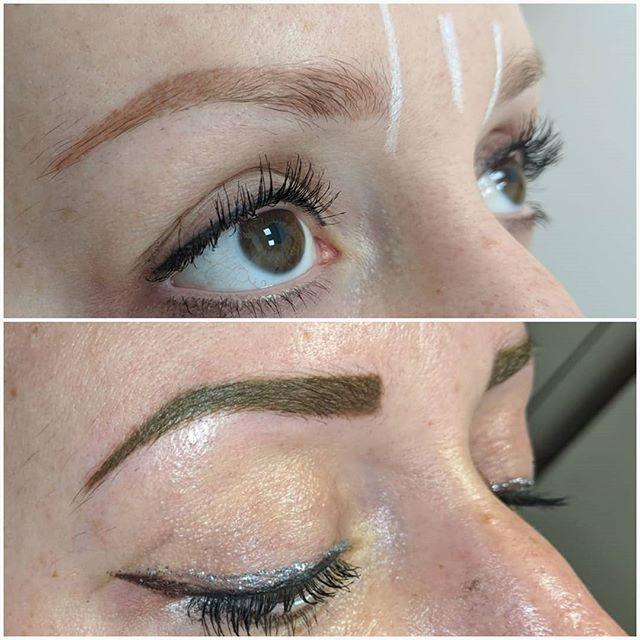 Powder brows colour correction