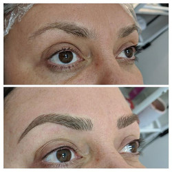 Microblading and SPMU eyeliner for this