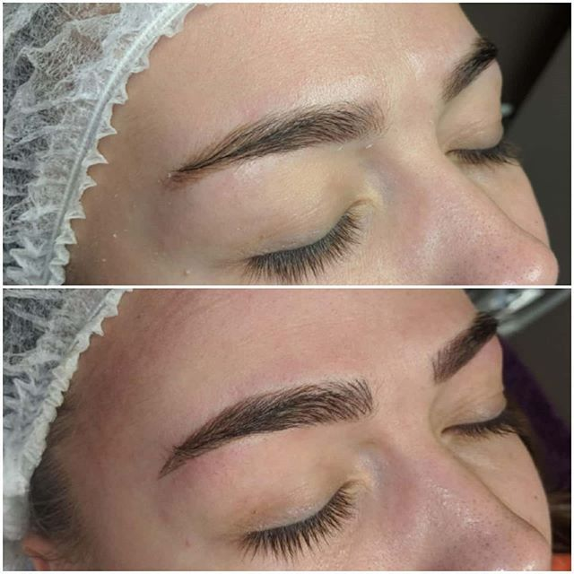 Yearly microblading top up by me 💜 💜 I