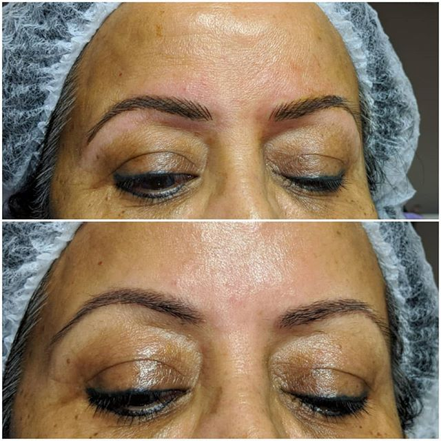 Microblading by Rebecca Pearl 💜My clien