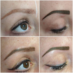 Powder brow journey 😍_Left to right, be