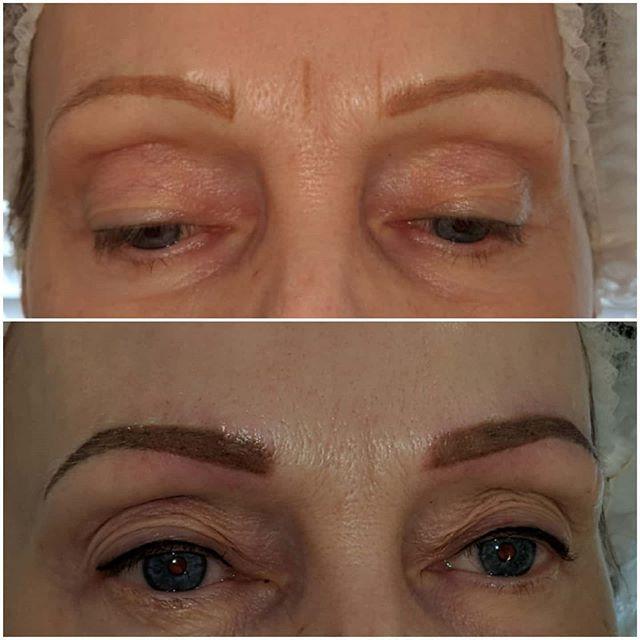 SPMU Microshading/ombre brows 😍 My clie