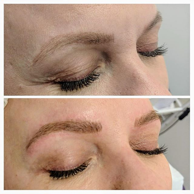 Yearly microblading top up 💜_ Client ne