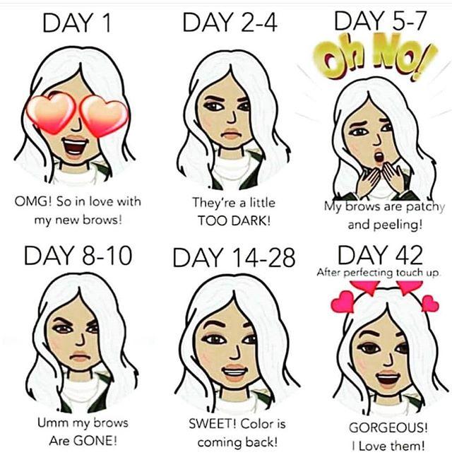 SPMU brow healing stages