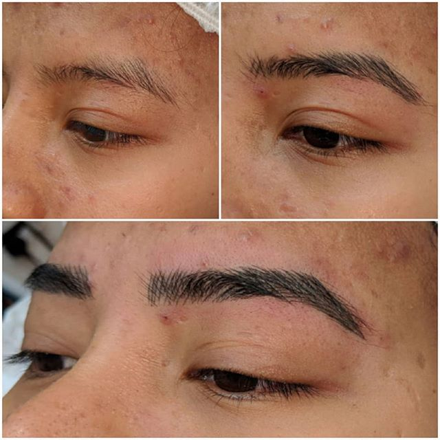 Microblading journey 😍 1st pic is befor