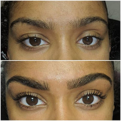 LVL lashes & HD brows for this little st