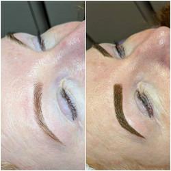 Powder brows 💜 💜Brows will look dark &