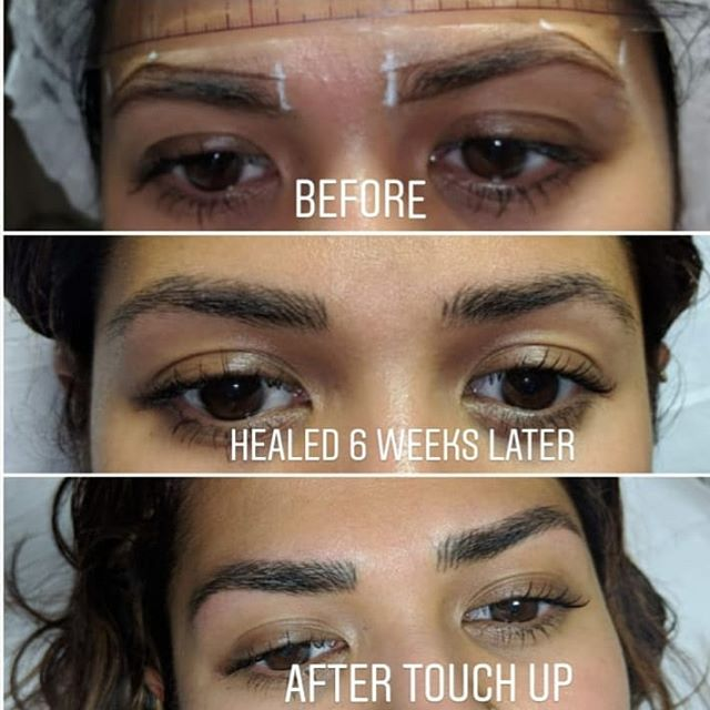 Microblading healing journey
