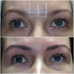 Natural Microblading  Client's right bro