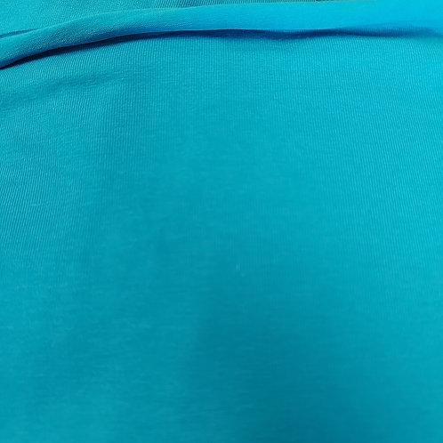 Turquoise - Katoen jersey